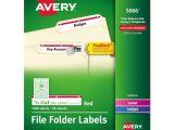 Avery File Folder Template Avery Permanent File Folder Labels Ave5066 72782050665