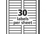 Avery Filing Labels Template Mailing Label Templates 30 Per Sheet and Avery Permanent