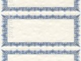 Avery Gift Certificate Template Blue 3 Up Printable Parchment Gift Certificates