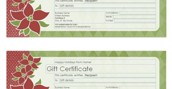 Avery Gift Certificate Template Christmas Gift Certificate Template Christmas Gift