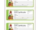 Avery Gift Certificate Template Christmas Gift Templates Free and Easy Options