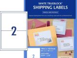 Avery Half Page Labels Template Shipping Labels with Trueblock 959008 Avery Australia