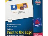 Avery Half Sheet Labels Template Avery White Print to the Edge Shipping Labels Icc