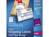 Avery Half Sheet Shipping Label Template Avery Rectangle 5 06 Quot X 7 63 Quot Shipping Label with Paper