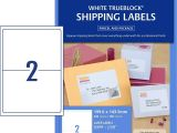Avery Half Sheet Shipping Label Template Shipping Labels with Trueblock 959008 Avery Australia