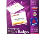 Avery Hanging Name Badges 74459 Template Avery Laser and Inkjet Hanging Name Badges 3 Quot X 4 Quot 100pk