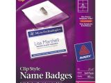 Avery Hanging Name Badges 74459 Template Bettymills Avery Garment Friendly Clip Style Name