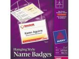 Avery Hanging Name Badges 74459 Template Bettymills Avery Hanging Name Badges Avery Ave74459