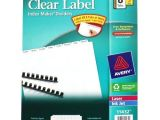 Avery Index Maker 5 Tab Template 11446 Avery 8 Tab 11 Quot X 8 5 Quot Clear Label Unpunched Dividers 5pk