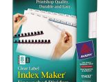 Avery Index Maker 8 Tab Template Avery 11432 Index Maker Print Apply Clear Label