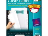 Avery Index Maker 8 Tab Template Avery Index Maker Extra Wide Tab Dividers Ld Products
