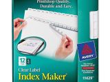 Avery Index Maker Clear Label Dividers 12 Tab Template Avery 11429 Index Maker Clear Label Dividers the Office