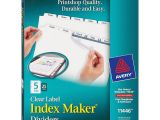 Avery Index Maker Clear Label Dividers 12 Tab Template Avery 11446 Index Maker Clear Label Dividers 5 Tab S Set