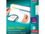 Avery Index Maker Clear Label Dividers 12 Tab Template Avery 11991 8 Tab 5 Sets Clear Label Index Maker Dividers