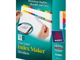 Avery Index Maker Clear Label Dividers 12 Tab Template Avery Index Maker Clear Label Dividers 12 Tab Set 11404
