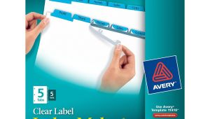 Avery Index Maker Clear Label Dividers 12 Tab Template Avery Index Maker Clear Label Dividers Easy Apply Label