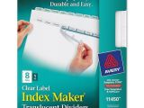 Avery Index Maker Clear Label Dividers 12 Tab Template Avery Index Maker Translucent Clear Label Divider 8 X