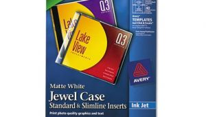 Avery Jewel Case Insert Template Avery Inkjet Cd Dvd Jewel Case Inserts Ave8693 Shoplet Com