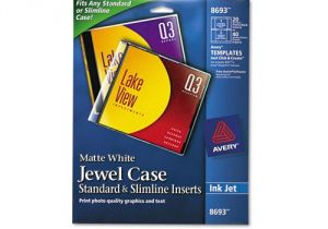 Avery Jewel Case Insert Template Avery Inkjet Cd Dvd Jewel Case Inserts Ave8693 Shoplet Com