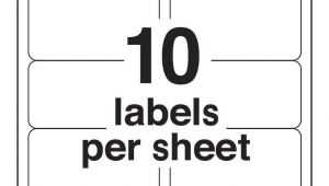 Avery Labels 10 Per Page Template Avery 10 Labels Per Sheet Template Ondy Spreadsheet