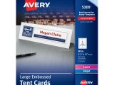 Avery Large Tent Card Template Avery Large Embossed Tent Cards Uncoated 3 50 X 11 In