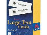 Avery Large Tent Card Template Avery Table Tents Template Pictures to Pin On Pinterest