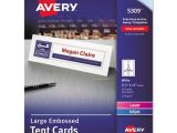 Avery Large Tent Cards 5305 Template Bettymills Avery Large Embossed Tent Cards Avery Ave5309