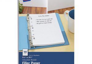 Avery Mini Binder Templates Avery Mini Binder Filler Paper