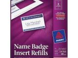 Avery Name Badge Template 5390 Avery 5390 Plain Insert Badge Refill 2 25 Quot Width X 3 50