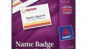 Avery Name Badge Template 5392 Avery 5392 Name Badge Insert Refill 4 Quot Width X 3 Quot Length