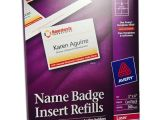 Avery Name Badge Template 5392 Avery 5392 Names Badge Insert Refills 3 X 4 Quot nordisco Com