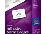 Avery Name Badge Template 5392 Avery Insertable 3 X 4 Inch White Name Badges 100 Count