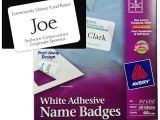 Avery Name Badge Template 5395 Avery 5395 White Adhesive Name Badges 2 1 3 X 3 3 8 Quot