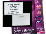 Avery Name Badge Template 74549 Avery 74549 Pin Style Name Badges