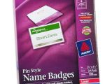 Avery Name Badges Template Avery 74549 Pin Style Name Badges