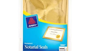 Avery Notarial Seals 5868 Template Avery Print or Write Notarial Seals 2 In Diameter Gold