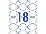 Avery Oval Template Crystal Clear Oval Multi Purpose Labels 959165 Avery