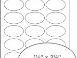 Avery Oval Template Oval Labels