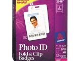 Avery Photo Id Badge Templates Avery Fold Clip Id Name Badges Ave2948 Shoplet Com