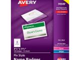 Avery Pin Style Name Badges 74549 Template Avery Pin Style Name Badges 2 25 X 3 5 In Clear White