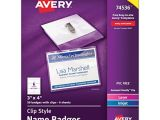 Avery Pin Style Name Badges 74549 Template White Adhesive Name Badges 2 1 3 Quot X 3 3 8 Quot Pack Of 80