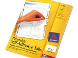 Avery Printable Self Adhesive Tabs 16282 Template Avery 16282 Printable Plastic Tabs with Repositionable