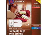 Avery Printable Tags with Strings Template Avery 22802 Printable Marking Tags W String 2 Quot Length X 3