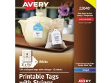 Avery Printable Tags with Strings Template Avery Printable Tags with Strings 2 X 1 1 4 White
