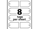 Avery Printable Tags with Strings Template Lot 2070g Lot Of 3 Avery Printable Tags with Strings