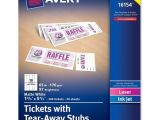 Avery Printable Tickets Template 7 Best Images Of Avery Raffle Tickets Printable Avery