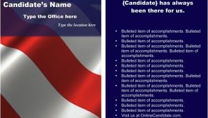 Avery Rack Card Template Political Print Templates Red White and Blue theme Word