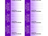 Avery Raffle Ticket Template Free Download Raffle Ticket Purple No Stub Works with Avery 5871