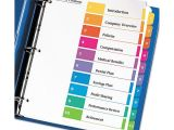 Avery Ready Index 10 Tab Template Ready Index Customizable Table Of Contents Multicolor