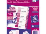 Avery Ready Index 8 Tab Color Template Avery 11168 Ready Index 8 Tab Multi Color Table Of